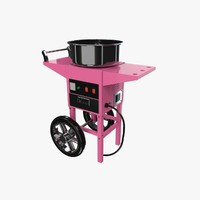 3d model cotton candy machine