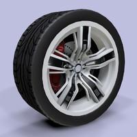 3d model of sport wheel