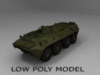 3d btr-80 armored model