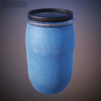 industrial plastic barrel 3d 3ds