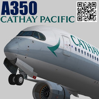 3d model airbus a350-900 xwb cathay pacific