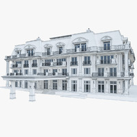 3d model wellness hotel building