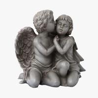 angel statuette realistic 3d obj
