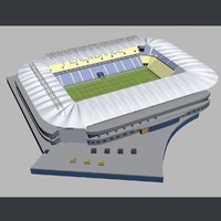 3d model kr stadium football -