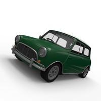 3d model of austin mini cooper
