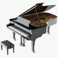 piano fazioli f212 3d max