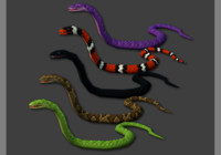 3d model snakes pack animations