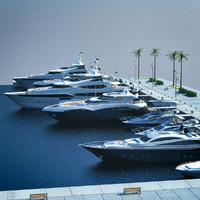 3d yachts harbour