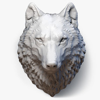 wolf head sculpture 3d max