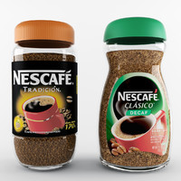 3d model coffee nescafe