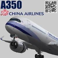 3d airbus a350-900 xwb china model