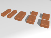 Chipped red brick set