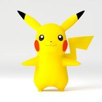 3d model pikachu pika