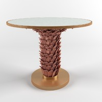 3d model athena table gold