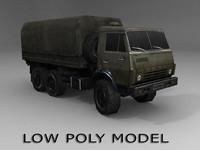 Low poly Kamaz truck