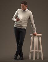 3d model male man