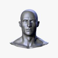 Realistic Caucasian Male Head