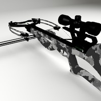 3d model bow crossbow