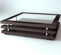3ds black metal coffee table