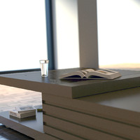 modern coffee table 3d 3ds