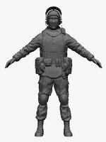 3d model hi-poly russian special forces