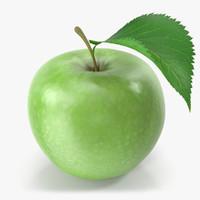 3d model apple green