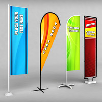 pack banner commercial flag obj
