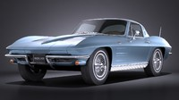 Chevrolet Corvette C2 Coupe 1963 VRAY