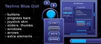 Techno Blue GUI Skin