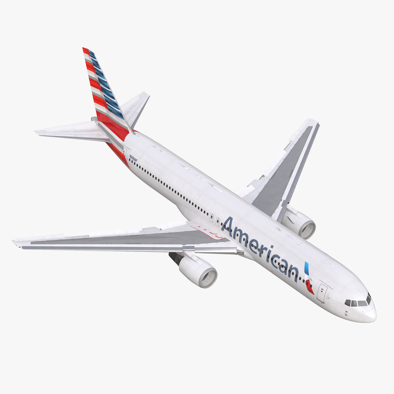 Boeing 767-300 American Airlines Rigged 3dsmax vray 3d model 00.jpg