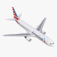 boeing 767-300 american airlines 3d max