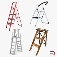 3d step ladders model