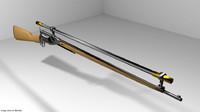 3d model revolver rifle