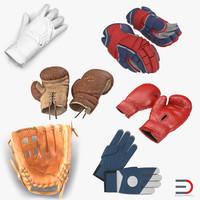 3d model sport gloves