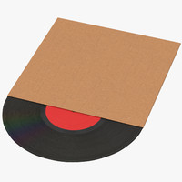 vinyl lp cardboard sleeve 3d model