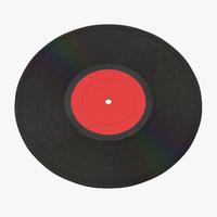 vinyl lp 01 3d c4d