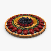 3d fruit tart model