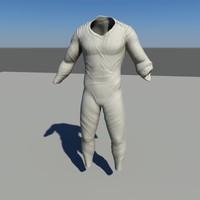 3d space jumpsuit model