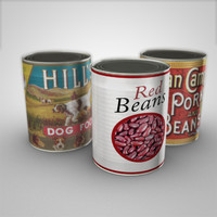 Can Food Assorted Labels