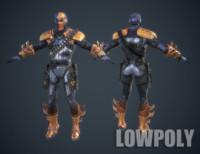 Deathstroke Slade Wilson 3D LowPoly Game Model