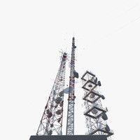 towers antenna 3d model