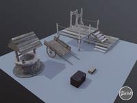 medieval props set 3ds