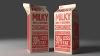 Milk carton with jar