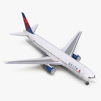 3d model of boeing 767-300 delta air lines