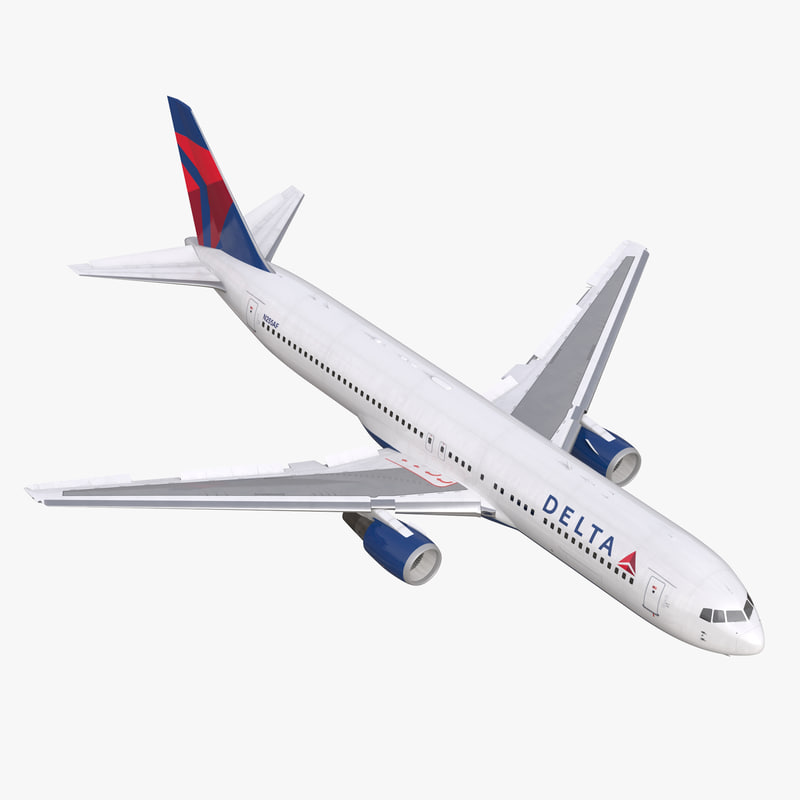 Boeing 767-300 Delta Air Lines Rigged 3dsmax vray 3d model 00.jpg
