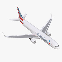 boeing 767-300f american airlines 3d max