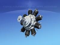Monosaupape 80 HP Rotary Engine