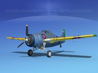 grumman f4f-3 fighter aircraft 3d dwg