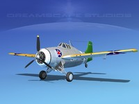 grumman f4f-3 fighter aircraft 3d max
