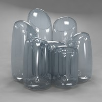 airflower armchair roche bobois 3d model